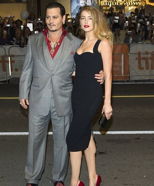 Johnny Depp & Amber Heard Foto: Instagram / victoriabeckham