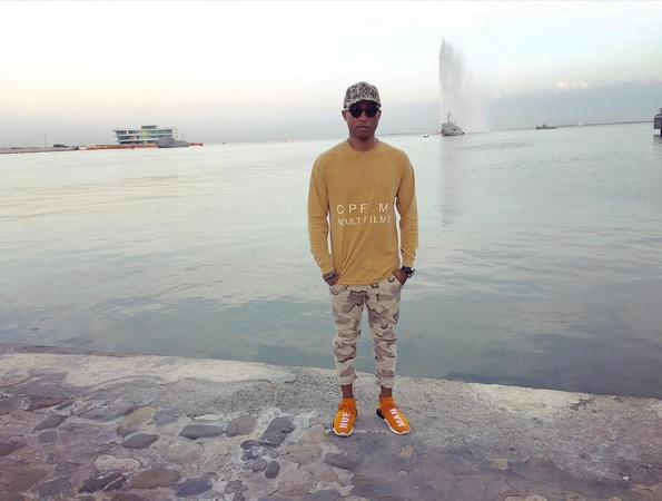 Pharrell Williams im Camouflage-Look