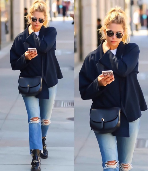 Ashley Benson: Destroyed-Jeans & Oversized-Blazer