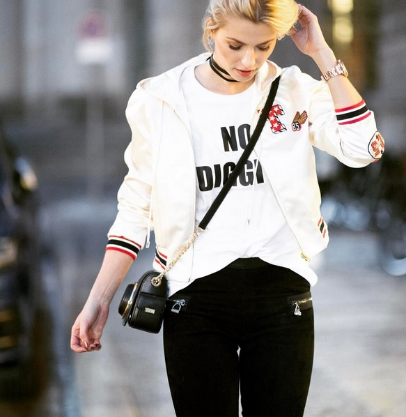 Lena Gercke im Sporty Casual Look